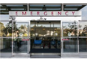 Automatic glass entrance door for hospital
