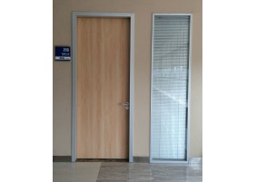 Wooden medical interior office door
