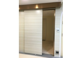 Wooden medical sliding door for ward
