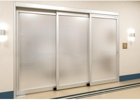 Telescopic ICU slide and swing door