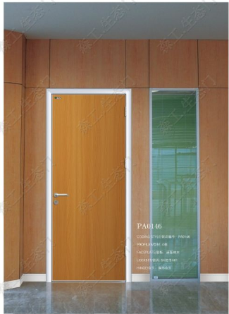 waterproof interior hospital wooden door